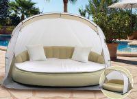 Luxusní nafukovací pohovka s plážovou stříškou DEKOVITA