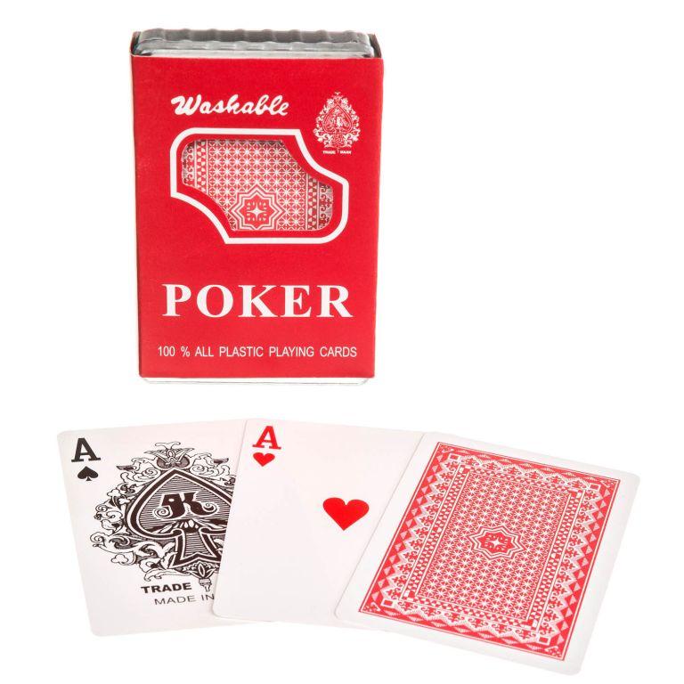 Pokerové karty 100% plast - 1 ks