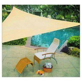 Stínící zahradní plachta trojúhelníková 3,6 m – písková barva