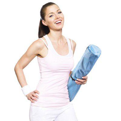 Taška na jóga podložku Body & Mind - modrá