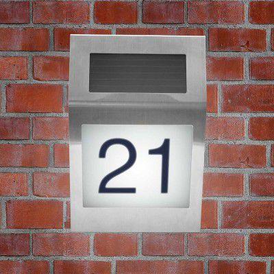 LED solární domovní číslo