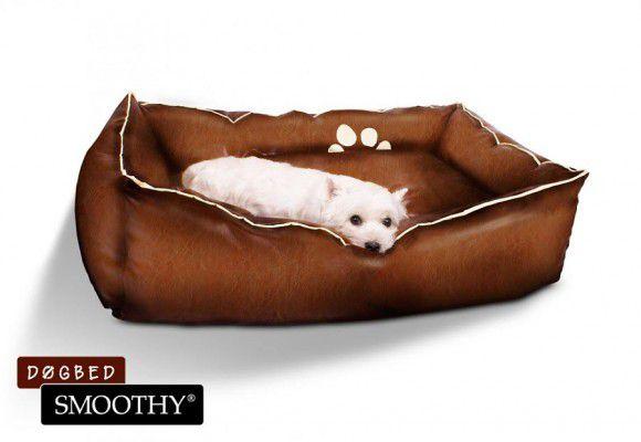 Kokiska pelíšek z umělé kůže pro psy