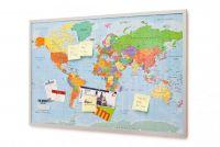 korková nástěnka s mapou světa XXL