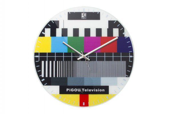 nástěnné hodiny s obrazem konec vysílání