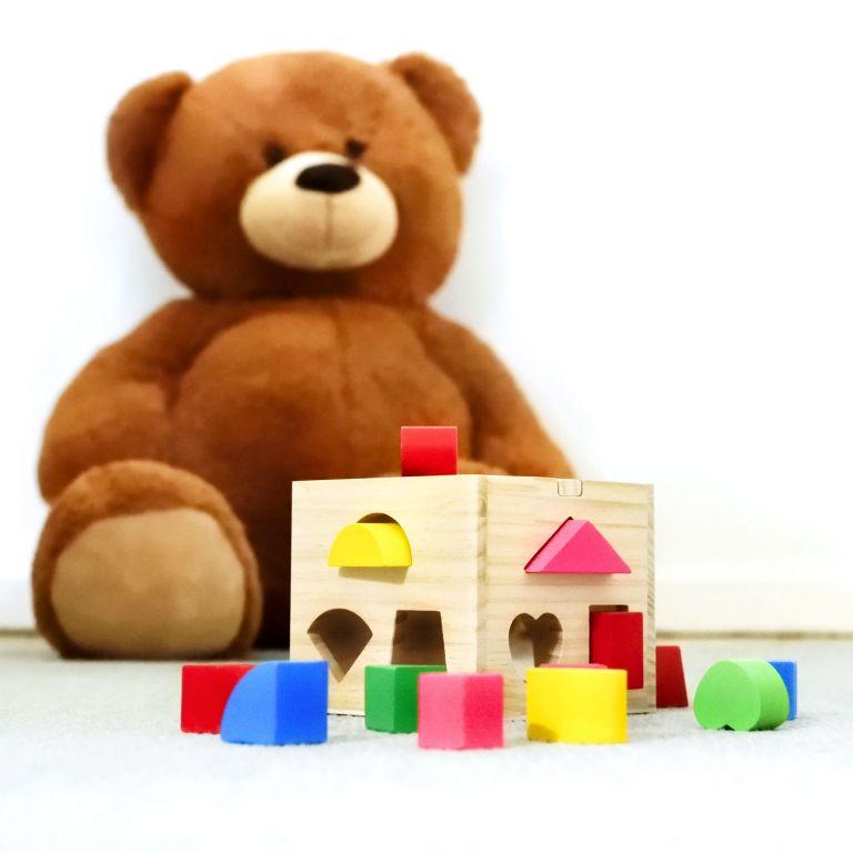 Dřevěná hrací kostka