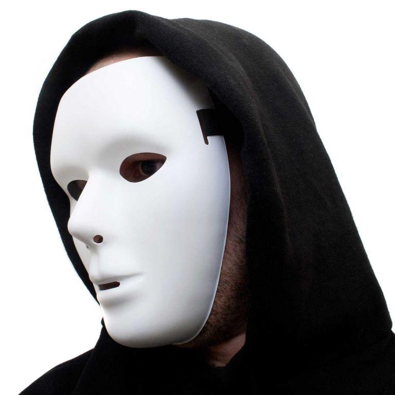Karnevalová maska FANTOM neutrální bílá