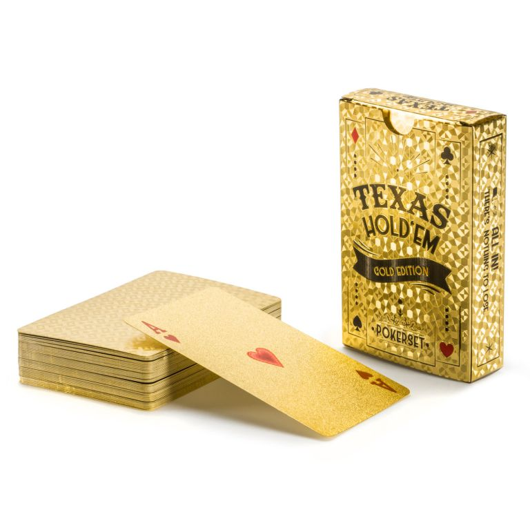 100% plastové karty na poker DELUXE GOLD