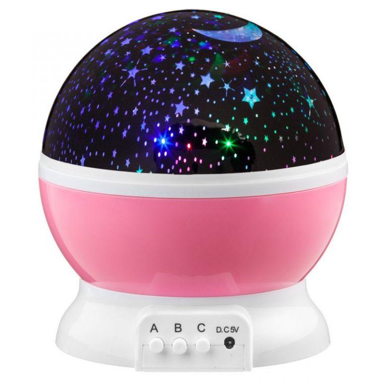 LED Star Light projektor noční oblohy - růžová