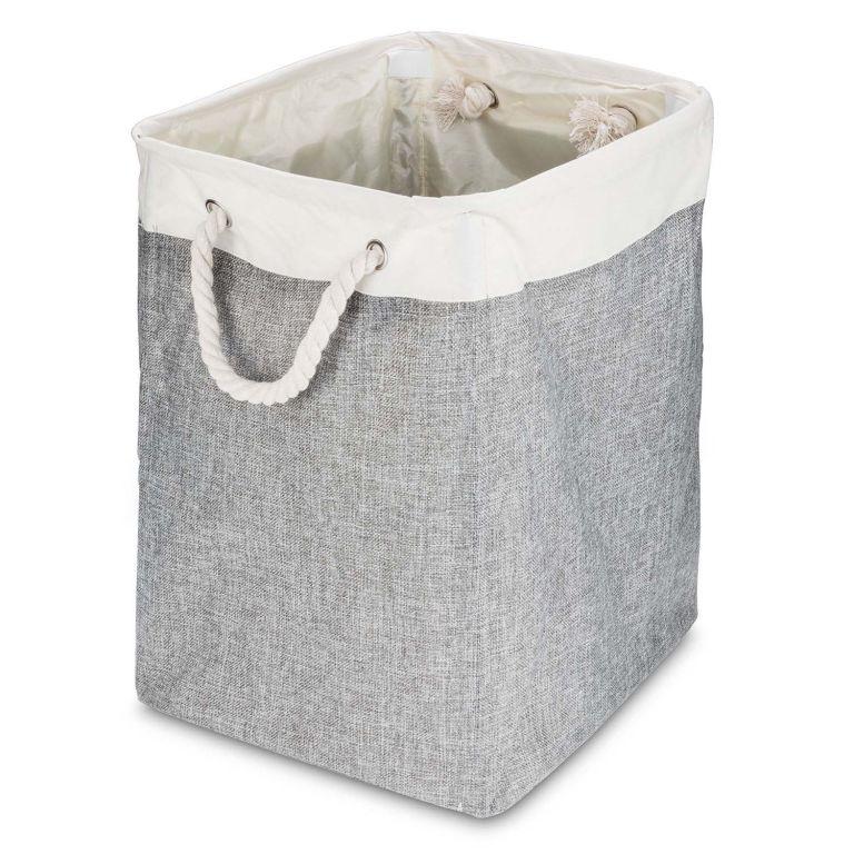 Elegantní lněný prádelní koš, 40 x 51 x 31 cm