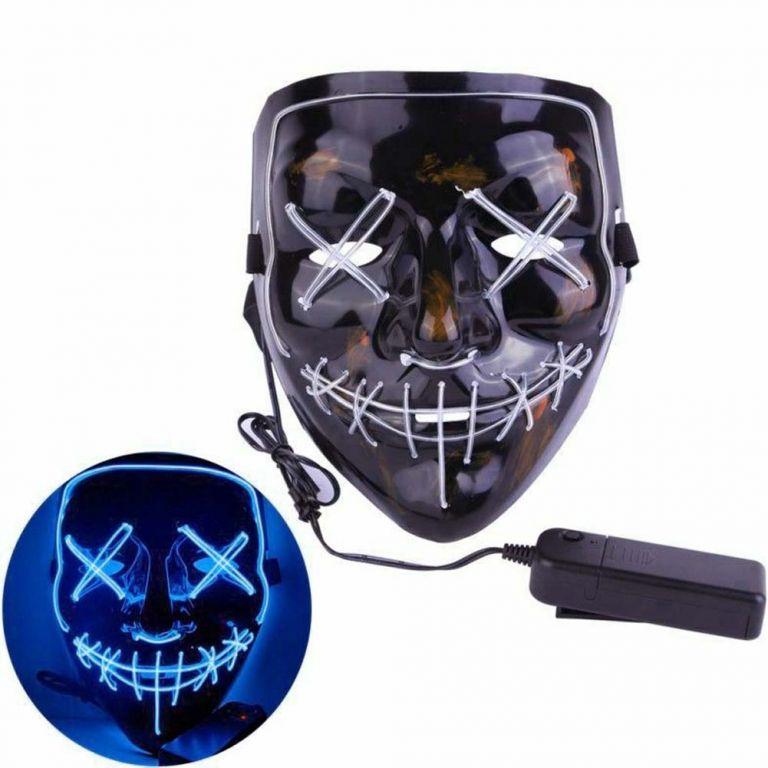 Děsivá LED svítící maska s dálkovým ovladačem