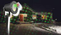 Vánoční laserový projektor - zelená/červená SVÁTEČNÍ - 20 x 20 m s časovačem