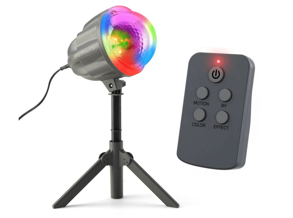 Vánoční laserový projektor - 4 barvy + 122 světelných efektů - 132 m2
