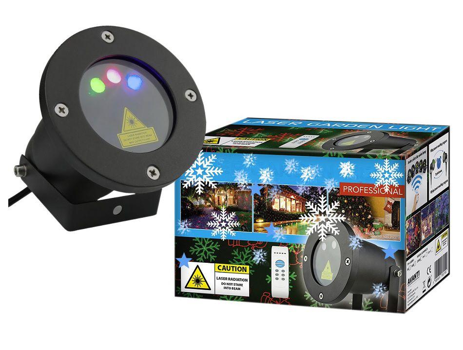Vánoční laserový projektor - NEBESKÝ - 20 x 20 m s časovačem