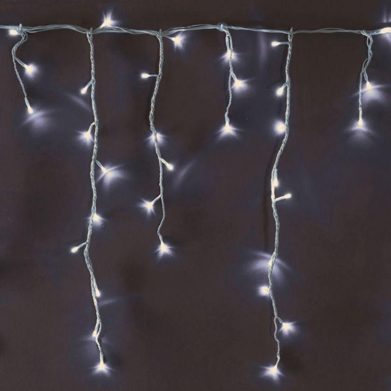 Vánoční světelný déšť 240 LED bílá