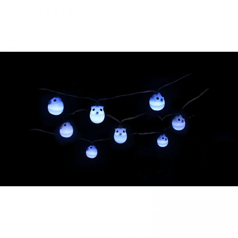 Zahradní solární LED světelný řetěz Sovičky