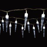 Vánoční osvětlení - Světelný řetěz (rampouchy) se 100 LED diodami, bílá