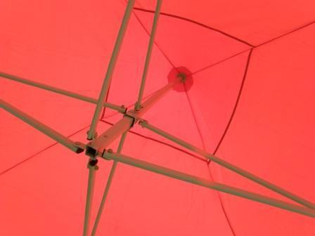 Zahradní párty stan CLASSIC nůžkový - 2 x 2 m červený