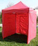 Tradgard CLASSIC Zahradní párty stan nůžkový + boční stěny - 2 x 2 m červený