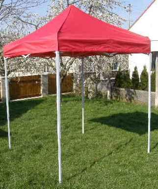 Zahradní párty stan CLASSIC nůžkový + boční stěny - 2 x 2 m červený