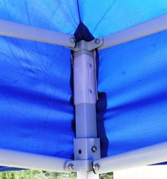 Zahradní párty stan CLASSIC nůžkový + boční stěny - 2 x 2 m modrý