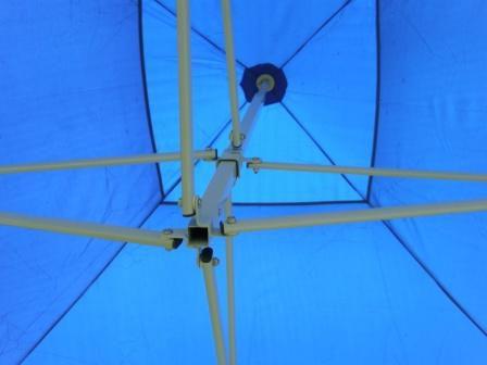 Zahradní párty stan CLASSIC nůžkový + boční stěny – 2 x 2 m modrý