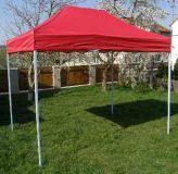 Zahradní párty stan CLASSIC nůžkový - 3 x 2 m červený