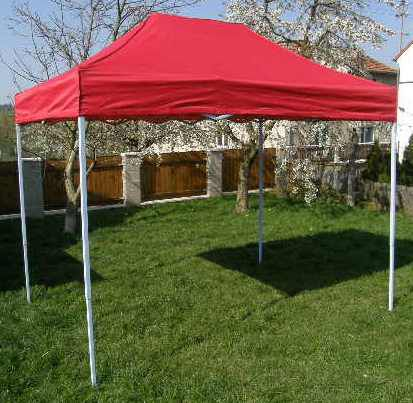 Zahradní párty stan CLASSIC nůžkový + boční stěny - 3 x 2 m červený