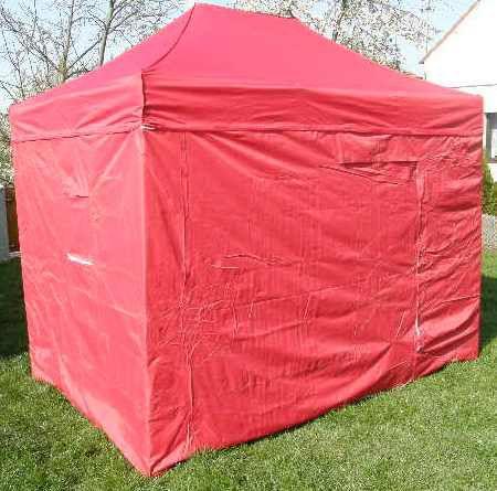 Zahradní párty stan CLASSIC nůžkový + boční stěny – 3 x 2 m červený