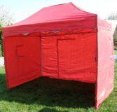 Tradgard CLASSIC Zahradní párty stan nůžkový + boční stěny - 3 x 2 m červený