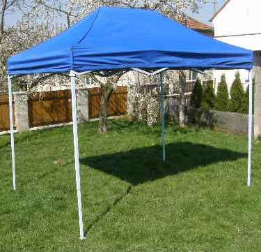 Zahradní párty stan CLASSIC nůžkový + boční stěny - 3 x 2 m modrý