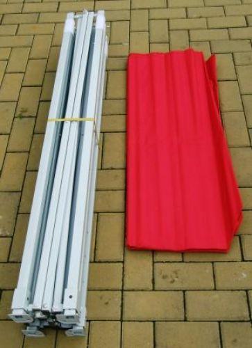 Zahradní párty stan CLASSIC nůžkový – 3 x 3 m červený