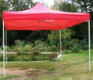 Tradgard CLASSIC Zahradní párty stan nůžkový - 3 x 3 m červený