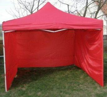 Zahradní párty stan CLASSIC nůžkový + boční stěny - 3 x 3 m červený