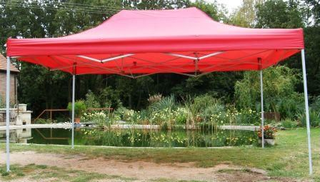 Zahradní párty stan CLASSIC nůžkový – 3 x 4,5 m červený