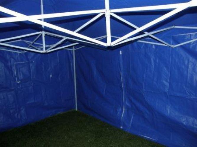 Zahradní párty stan CLASSIC nůžkový + boční stěny - 3 x 4,5 m modrá