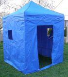 Zahradní párty stan DELUXE nůžkový + boční stěny - 2 x 2 m modrý