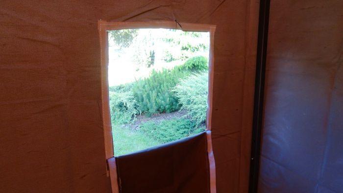 Zahradní párty stan DELUXE nůžkový + boční stěny - 2 x 2 m hnědá