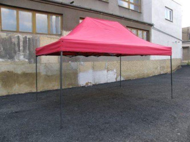 Zahradní párty stan DELUXE nůžkový - 3 x 2 m červený