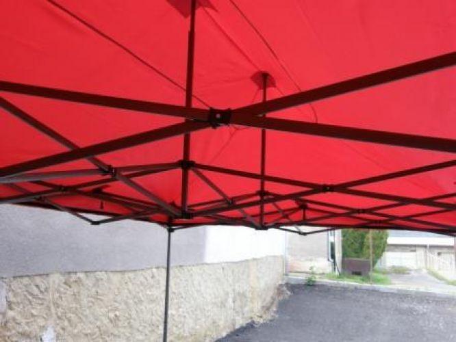 Zahradní párty stan DELUXE nůžkový + boční stěny – 3 x 3 m červená