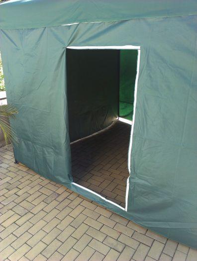 Zahradní párty stan DELUXE nůžkový + boční stěny - 3 x 3 m zelená