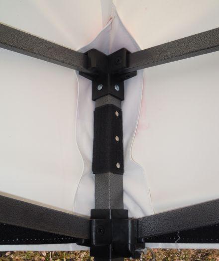 Zahradní párty stan DELUXE nůžkový + boční stěny - 3 x 3 m bílá