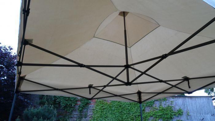 Zahradní párty stan DELUXE nůžkový + boční stěny - 3 x 3 m smetanová
