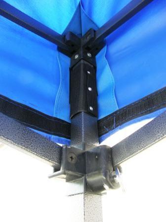Zahradní párty stan DELUXE nůžkový + boční stěny – 3 x 3 m modrá