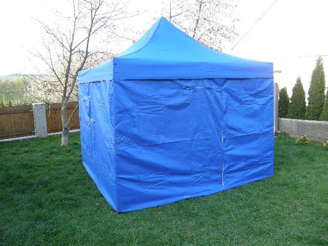 Tradgard DELUXE 41063 Zahradní párty stan nůžkový + boční stěny - 3 x 3 m modrá