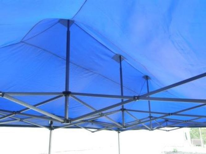 Zahradní párty stan DELUXE nůžkový - 3 x 6 m modrá