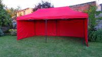 Zahradní párty stan DELUXE nůžkový + boční stěna - 3 x 6 m červená