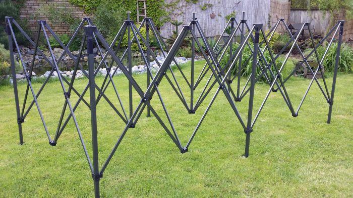 Zahradní párty stan DELUXE nůžkový + boční stěny - 3 x 6 m zelená
