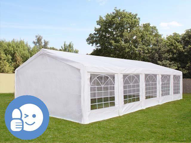 Zahradní párty stan CLASSIC 4 x 10 m - bílá