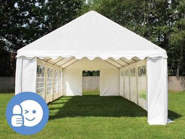 Zahradní párty stan ECONOMY 4 x 10 m - bílá