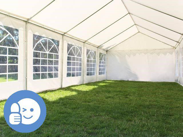 Zahradní párty stan ECONOMY 6 x 12 m - bílá